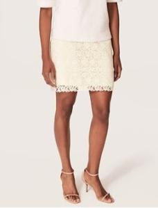 anne taylor loft lace skirt