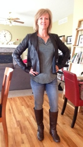 free people shirt leather jacket